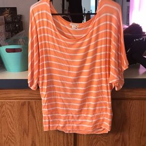 Batwing striped top